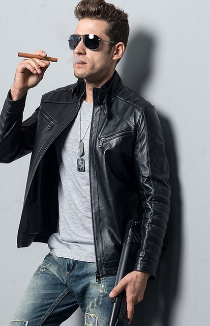 5XL Mens Leather Jacket