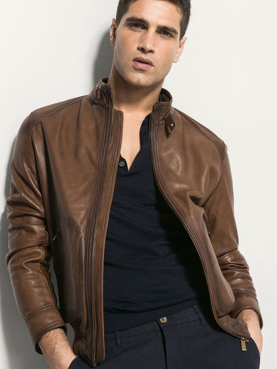 BROWN NAPPA JACKET